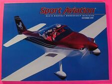 SPORT AVIATION MAGAZINE OCT/1999..PHIL AND BETTY FUNK'S MUSTANG II COVER PLANE