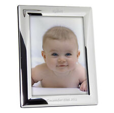 "Personalizzata SILVER PLATED PHOTO FRAME - 5 ""X 7"" Incisa PICTURE REGALO"