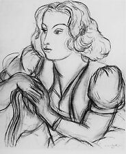 MATISSE - THE FRENCH MODEL - ORIGINAL LITHOGRAPH - 1941  - FREE SHIP  IN US!