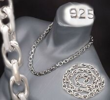 "24"" 185g HUGE HEAVY LINKS BARAKA 925 STERLING SILVER MENS NECKLACE CHAIN PRE"