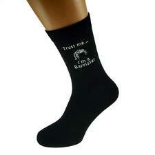 Trust me I'm a Barrister Image Design Mens Black Socks X6N404