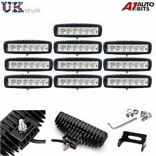 10 PCS 18W 6 LED WORK BAR LIGHT OFFROAD SPOT LAMPS CAR TRUCK 4WD