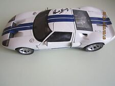 Carroll Shelby Autographed * The Beanstalk Group -Ford GT Concept Car White 1:18