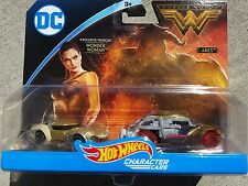HOT WHEELS 2017 DC CHARACTER CARS WONDER WOMAN VS ARES NEW MOVIE 2 PACK MIP RARE