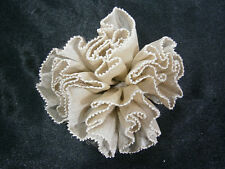 KLEINFELD WEDDING BEIGE BROWN FLOWER SILK LACE DECORATION GOWN OR HAIR ACCESSORY