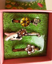 Rings Stackable Spring Fling Size 8 Bunny & Flowers, Brand Name FREE SHIPPING
