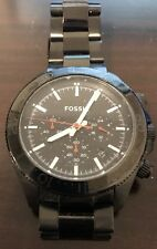 Fossil Men's CH2863 Retro Traveler Chronograph Luminous Black Steel Watch