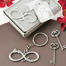75 - Infinity Design Silver Metal Key Chain - Wedding Favor