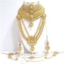 Indian Bollywood Style Fashion Gold Plated Bridal Jewelry Fashion Necklace Set