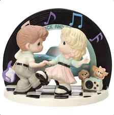 Precious Moments I Love The Way You Rock & Roll Sock Hop New 163060 LmtED