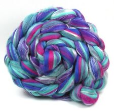 Merino Wool & Silk Blend Kingfisher 100g for Hand spinning or Felting Fibre