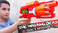AIR WARRIORS THE WALKING DEAD CARL'S REVOLVER FOAM DART FIRING GUN 6 X DARTS