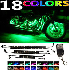 H.D LED Neon Under Glow Lights Strip Kit For ALL Kawasaki Ninja Motorcycles