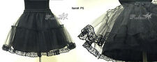Elegant Gothic Sweet Lolita Punk Cosplay P5 Multi-Layer Skirt Petticoat Black
