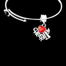 Cheer bracelet charm cheerleader cheering  best jewelry gift