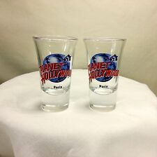 Lot of Two Planet Hollywood Paris Shooter Shot Glasses Two for the Price of One!