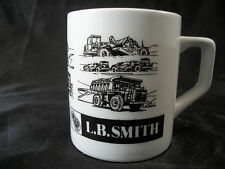Mug cup L.B. Smith Construction vehicles tractor truck coffee tea art heavy duty