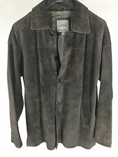 Pacific Trail Outdoor Wear Jacket Brown Suede Leather Men's Size Medium