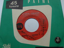 "YVETTE HORNER: Napoli Napoli / La java des croulants 7"" JUKEBOX PATHE 45 G 1525"