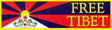 Free Tibet - Human Rights Magnetic Bumper Sticker / Decal Magnet