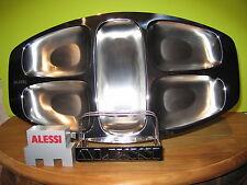 ALESSI *NEW* Plat à hors d'oeuvre acier satiné à bord brillant 45x25cm Mazzeri