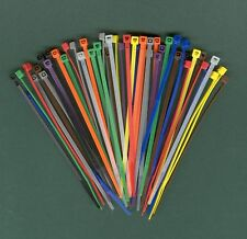 "100 4"" Inch Long 18# Pound Nylon Cable Ties 10 COLORS Zip Tie Ty Wrap MADE USA"