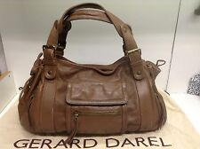 TTBE  - Gerard darel Sac Multipoches 24h En Cuir Marron Chocolat Clair