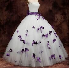 2016 Butterfly Prom Party Pageant Quinceanera Dress Ball Gown Wedding Dresses