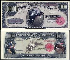 United States Usa 1 Million Dollar Bill A Rodeo Unc