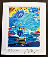 PETER MAX Original Hand Signed/Numbered Art with Official Studio Embossed Seal