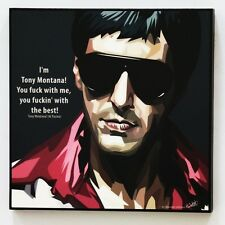 (Al pacino)Tony Montana canvas quotes wall decals photo painting pop art poster