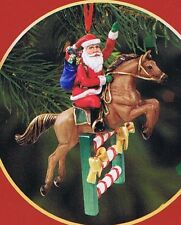 Breyer Santas Flight Christmas Holiday Ornament 700639 Santa On Horse Jumping