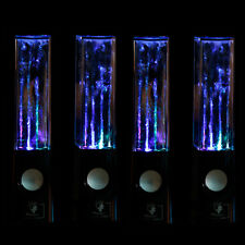2xBlack LED Light Water Dancing Speakers Show Music Fountain for Phones Computer