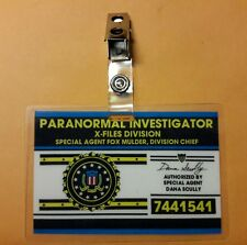X-files TV Series ID Badge - Paranormal Investigator Mulder costume prop cosplay