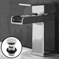 Taps Waterfall Basin Tap Mixer Faucet Bathroom Mono Lever Sink Chrome Wash Tap