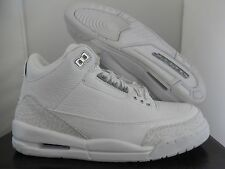 "NIKE AIR JORDAN AJ 3 RETRO 3 ""PURE MONEY"" WHITE SZ 8.5 SUPER RARE! [398613-102]"