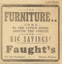 GLASGOW TIMES FEBRUARY 1, 1951 AD FOR FAUGHT'S FURNITURE