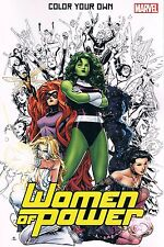 Marvel Comics Women of Power Color Your Own Adult Coloring Book PB 2016