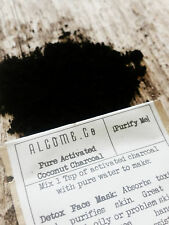 INSTANT Teeth Whitening //  CHARCOAL POWDER //  Alcome Co