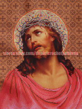 Jesus Crowned with Thorns religious picture bead embroidery DIY kit, beadwork