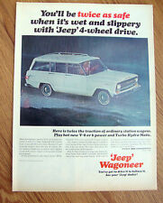1966 Jeep Wagoneer Ad - Wet & Slippery