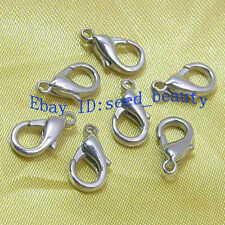 100pcs White Gold Plated Lobster Clasp 12mm Free S/H