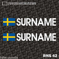 2x Sweden Flag Driver Co. Driver Rally Drift Race Name Sticker Racing RNS42