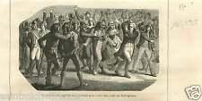 Citoyen Club Jacobins Robespierre Paris Révolution Française GRAVURE PRINT 1867