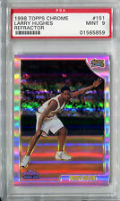 1998-99 Topps Chrome Refractor LARRY HUGHES RC Philadelphia 76ers SP Mint PSA 9