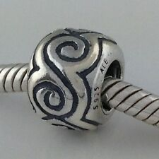 Authentic Pandora Curly Wurly Large Swirls Sterling Silver Bead Charm 790228 New