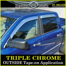 09-16 DODGE RAM 1500 CREW Cab 4pc Chrome Door Window Visors Vent Side Rain