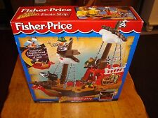 Fisher Price Great Adventures Pirates Small Pirate Ship NIB Rare / Hard to Find