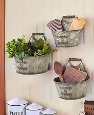Country Living Home Accents Set of 3 Wall Buckets