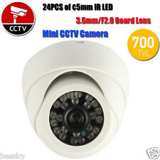 Mini Wired Security CCTV Camera System Night Vision Infrared IR 24 LED 700TVL